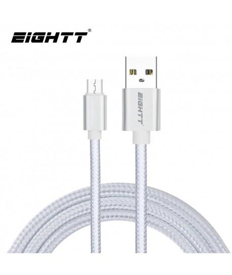 Cable Nylon trenzado Micro-USB Silver