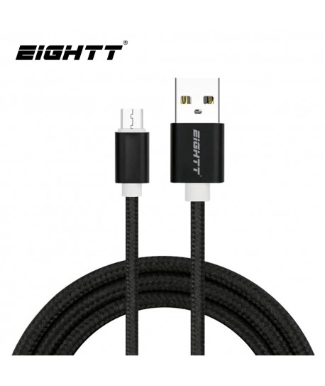Cable Metal flex USB MicroUSB Black