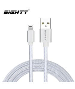 Cable Metal flex USB Lightning_iphone Silver