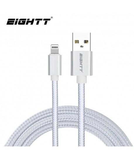 Cable Nylon trenzado Lightning_iphone Silver