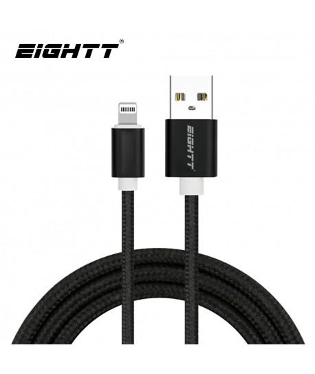 Cable Nylon trenzado Lightning_iphone Black