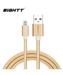 Cable Metal flex USB Lightning_iphone Gold