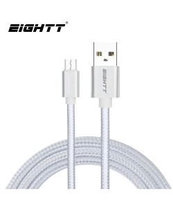 Cable Metal flex USB MicroUSB Silver