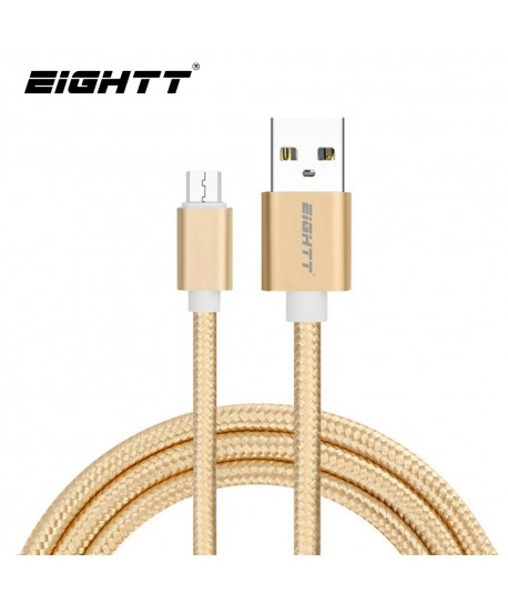 Cable Metal flex USB MicroUSB Gold