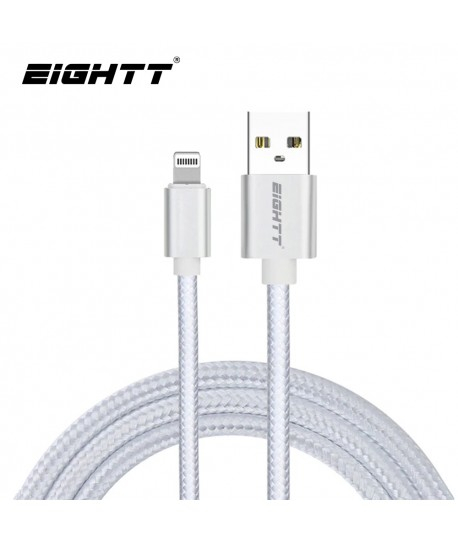Cable Nylon trenzado Lightning_iphone Silver