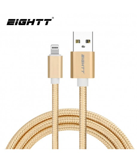Cable Nylon trenzado Lightning_iphone Gold