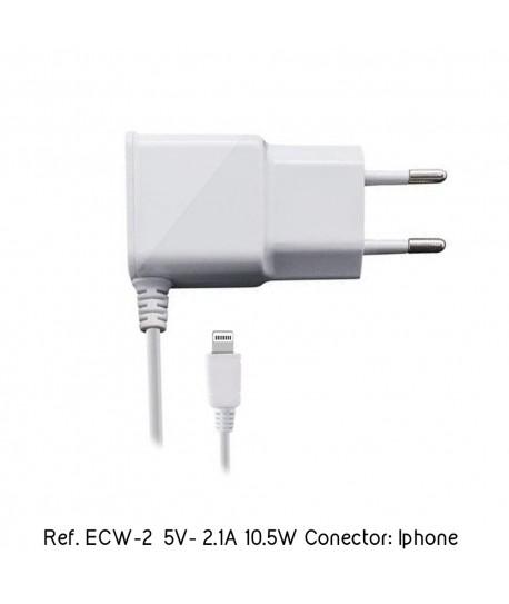 Cargador Smartphone Tablet Iphone 5V 2.1A